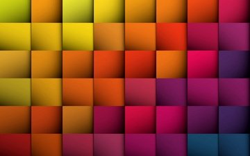 abstraction, color, squares