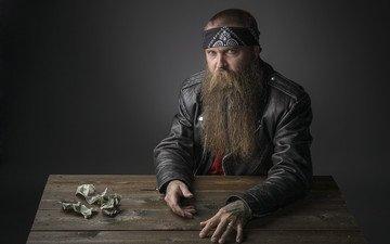 мужчина, деньги, борода