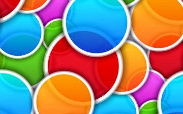 абстракция, цвет, круги
