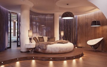 style, interior, chair, bed, bedroom, lamp