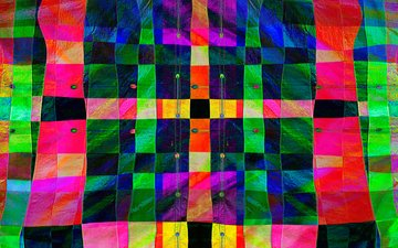 line, colorful, squares, fabric, canvas