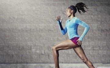 girl, sport, running, athlete, cross