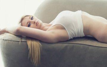 джинсы, девочки, фигура, футболка, тело, блонд, женщин, моделей, сексуальные девушки