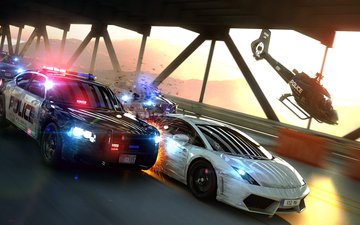 art, bridge, speed, game, chase, police, cops, most wanted chase
