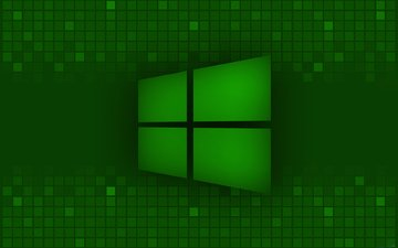 зелёный, логотип, виндовс 8, майкрософт