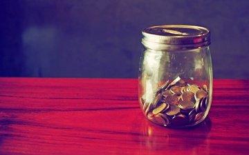 деньги, монеты, банка