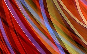 полосы, абстракция, линии, лучи, цвет