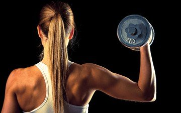 girl, mike, fitness, weights