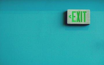 текстура, фон, надпись, стена, минимализм, выход, exit