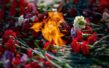 flame, fire, victory day, ribbon, may 9, memory, clove, laying