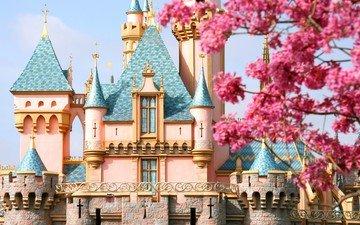 замок, сша, сказка, орландо, диснейленд, замок спящей красавицы, штат флорида