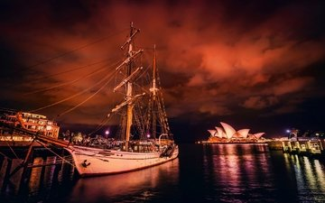 корабль, сидней, австралия, гавань