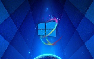 background, blue, logo, windows