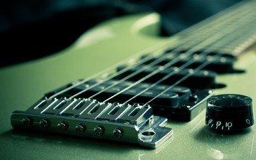 гитара, музыка, зеленая, музыкальный инструмент, nomadic lass, электрическая