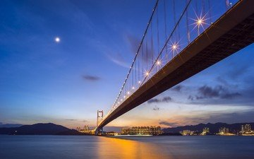китай, гонконг, мост цинма