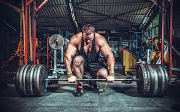 спорт, мужчина, штанга, тренировка