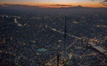 japan, skyscrapers, megapolis, tokyo