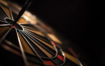 macro, sport, target, darts