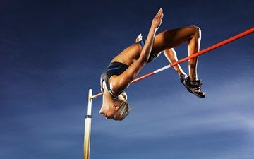 women, athletes, the jump