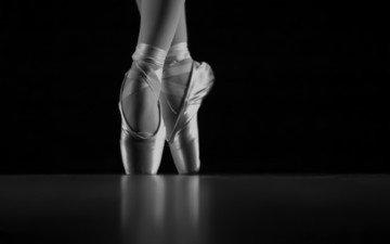 чёрно-белое, танец, балет, балерина, пуанты, kryziz bonny