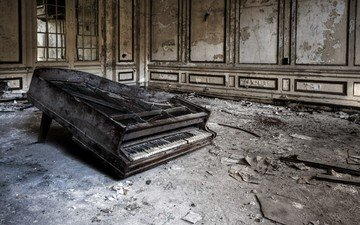 фон, комната, рояль
