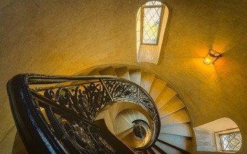 свет, лестница, интерьер, окно