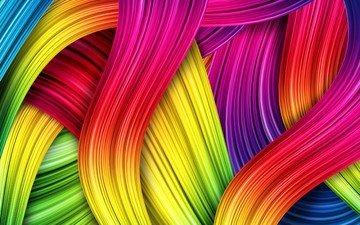 абстракция, линии, узор, разноцветные, цвет, красочные, абстракwbz