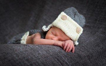 сон, дом, ребенок, шапка, младенец, уют