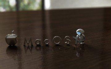 robot, table, mac os, apple