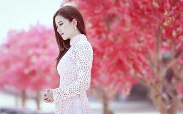 девушка, весна, азиатка