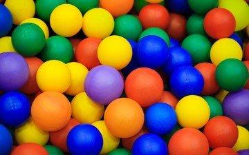 разноцветные, шарики, мячики