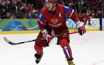 хоккей, клюшка, форма, россия, овечкин