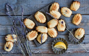лаванда, лимон, печенье, выпечка, anna verdina, мадлены, madeleins