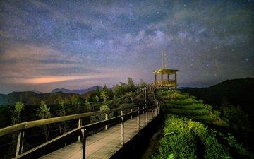 тайвань, млечный путь, на природе, чайная плантация, thunderbolt_tw, чайные плантации