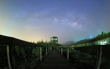 тайвань, млечный путь, чайная плантация, thunderbolt_tw