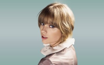 блондинка, музыка, взгляд, лицо, певица, тейлор свифт