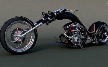мотоцикл, harley davidson, harley davidson chopper