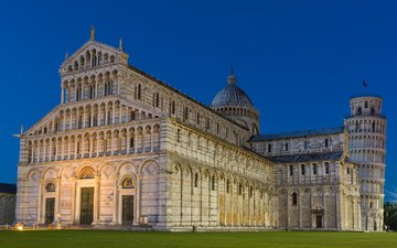 собор, башня, италия, пиза