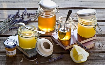 лаванда, лимон, мед, натюрморт, банки, anna verdina