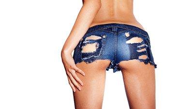 jeans, ass, shorts, torn