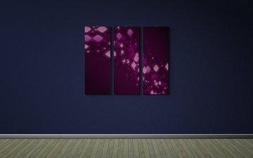 обои, текстура, стена, минимализм, пол, креатив, картины