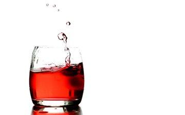 напиток, капли, белый фон, всплеск, стакан, водопой