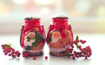 новый год, зима, красные, ягоды, рождество, встреча нового года, веточки, елочная, подсвечники