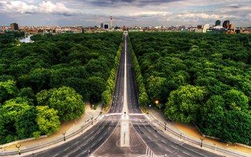 парк, улица, проспект, взляд, берлин