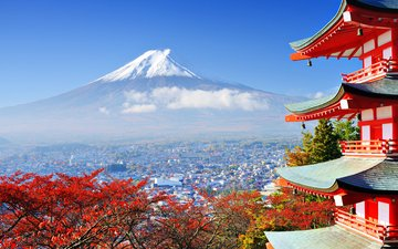 temple, mountain, japan, the volcano, tokyo, fuji