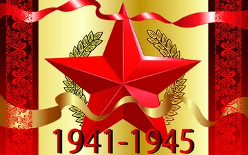 background, star, victory day, figures, tape, may 9