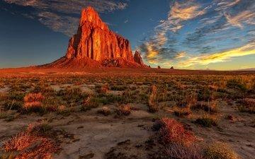 природа, пейзаж, скала, пустыня, нью-мексико