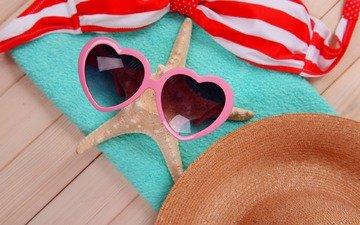 море, пляж, лето, очки, отдых, бокалы, вс, морская звезда, каникулы, летнее, аксессуаров