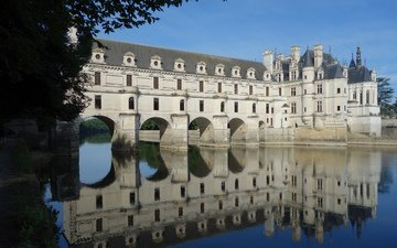 замок, дворец, франция, шенонсо, франци, chateau, замок шенонсо, chateau de chenonceau