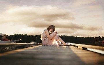 девушка, настроение, одиночество, ожидание, whitney justesen